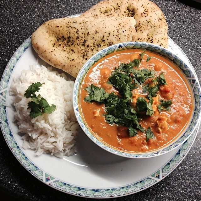 Indiase kip-curry (of zoiets...)