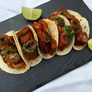 Mini-wraps met Mexicaanse vis
